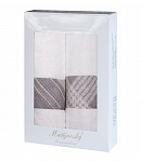 Gift wrapping towels Elegant 2pcs white