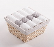 Towel Basket Elegant 4pcs white