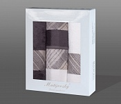 Gift wrapping towels Elegant 4pcs white and anthracite