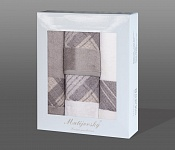 Gift wrapping towels Elegant 4pcs white and tabacco