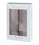 Gift wrapping towels Elegant 2pcs tabacco