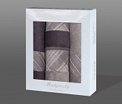 Gift wrapping towels Elegant 4pcs tabacco and anthracite