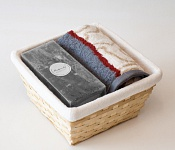 Towel Basket Escada - grey candle