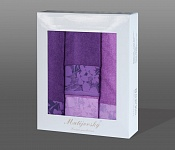 Towel Gift Box Flora 4pcs violet
