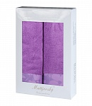 Towel Gift Box Flora 2pcs light violet