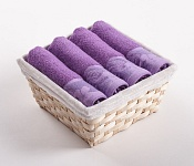 Towel Basket Flora light violet 4pcs
