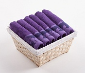 Towel Basket Flora 6 pcs dark violet
