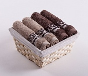 Towel Basket Luxor 4 pcs beige and light brown