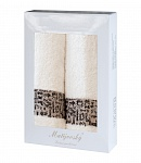 Towel Gift Box Luxor 2 pcs cream
