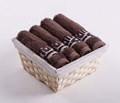 Towel Basket Luxor 4 pcs light brown