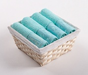 Towel Basket Mara 4pcs light azure