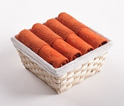 Towel Basket Mara 4pcs dark terra
