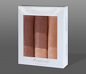 Towel Gift Box Mita 4 pcs dark orange and orange
