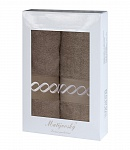 Towel Gift Box Royal 2 pcs mocca light