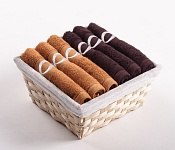 Towel Basket Royal 6pcs choco-caramel