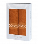 Towel Gift Box Royal 2 pcs caramel