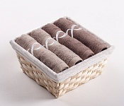 Towel Basket Royal mocca 4 pcs mix