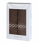 Towel Gift Box Royal 2 pcs mocca dark