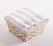 Towel Basket Sandra 4pcs white