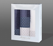 Gift wrapping towels Sandra 4pcs white and blue
