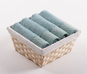 Towel Basket Sandra 4 pcs light menthol