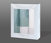 Gift wrapping towels Sandra 4pcs menthol and white