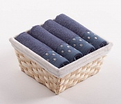 Towel Basket Sandra 4pcs blue