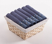 Towel Basket Sandra 6 pcs blue