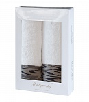 Towel Gift Box Solare 2 pcs white