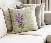 Decorative Pillowcase Vintage Lavender