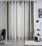 Combined curtain Anabel Petrol