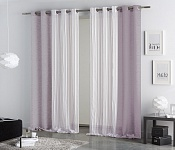 Combined curtain Coral Violet