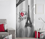 Decorative curtain Love Paris