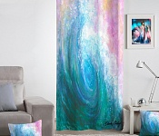 Decorative curtain Ocean