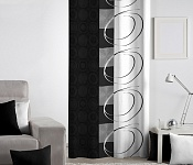 Decorative curtain Royal Black