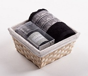 Towel Basket Aida black - black candle set