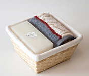 Towel Basket Escada - white candle