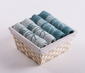 Towel Basket Dove 4pcs