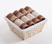 Towel Basket Dove 4pcs brown