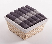 Towel Basket Elegant 6pcs anthracite