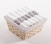 Towel Basket Elegant 6pcs white