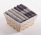 Towel Basket Elegant 6pcs tabacco and anthracite