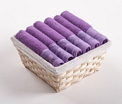 Towel Basket Flora light violet 6pcs