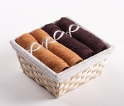 Towel Basket Royal 4pcs choco-caramel