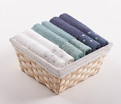 Towel Basket Sandra 6 pcs mix