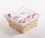 Basket with towels Balónky - Srdce