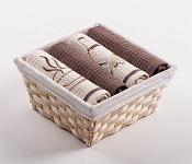 Basket with towels Cappuccino - Virgin