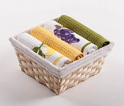 Basket with towels Lemons - Grape