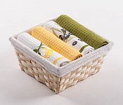 Basket with towels Lemons - Olives