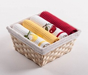 Basket with towels Lemons - Cherry